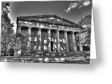 Philadelphia Second Bank Bw Greeting Card
