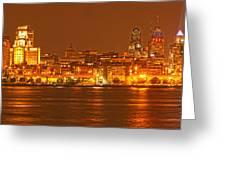 Philadelphia Skyline Panorama Greeting Card