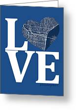 Philadelphia Street Map Love - Philadelphia Pennsylvania Texas R Greeting Card