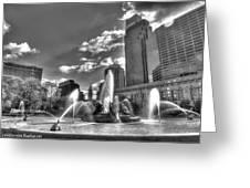 Philadelphia-swan Fountain Greeting Card