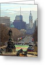 Philadelphia - The Parkway Greeting Card