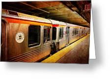 Philadelphia - Waiting Train Greeting Card