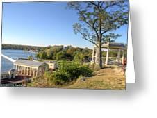 Philadelphia Water Works With Art Museum Gazebo  Greeting Card