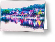 Philadelphia's Boathouse Row On The Schuylkill River Greeting Card