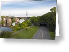 Philadelphia's Rock Tunnel - Kelly Drive Greeting Card