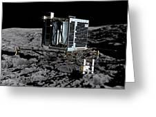 Philae Lander On Comet 67pc-g Greeting Card