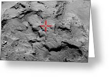 Philae Lander Touchdown Point On Comet Greeting Card