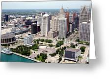 Philip A Hart Plaza Detroit Greeting Card