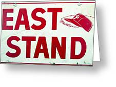 Phillies East Stand Sign - Connie Mack Stadium Greeting Card
