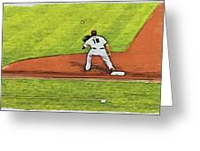 Phillies First Baseman Greeting Card
