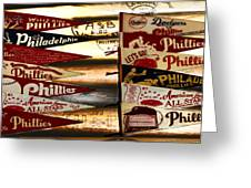 Phillies Pennants Greeting Card