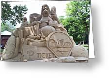 Phillies Sandsculpture Greeting Card
