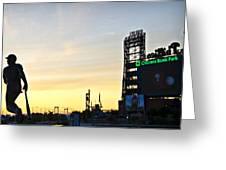 Phillies Stadium At Dawn Greeting Card