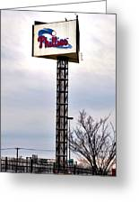 Phillies Stadium Sign Greeting Card