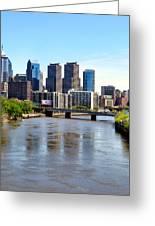 Philly Bridges Buildings Greeting Card