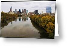 Philly Fall River View Greeting Card