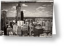 Philly In The Clouds Greeting Card