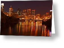 Philly Lights Reflected Greeting Card