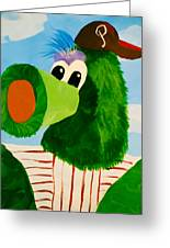 Philly Phanatic Greeting Card by Trish Tritz