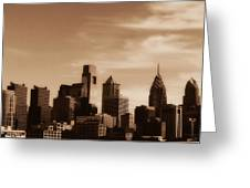 Philly Skyline 2013 Greeting Card