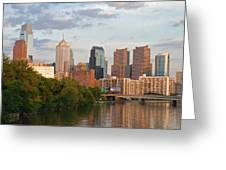Philly Summer Skyline Greeting Card by Jennifer Ancker