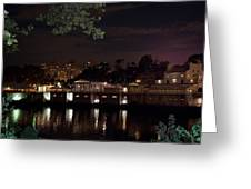 Philly Waterworks At Night Greeting Card