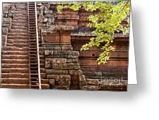 Phimeanakas Temple Steps Greeting Card