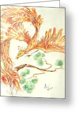 Phoenix In Flight Greeting Card