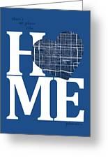 Phoenix Street Map Home Heart - Phoenix Arizona Road Map In A He Greeting Card