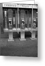 Phone Booth In New York City Greeting Card