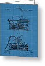 Phonograph Blueprint Patent Drawing Greeting Card