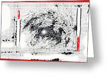 Photo Homage William Klein Street Lamp Night  Number 1 Aberdeen South Dakota Polaroid 1964-2009 Greeting Card