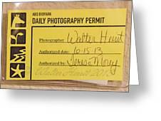 Photo Permit Greeting Card