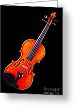 Photograph Of A Complete Viola Violin In Color 3368.02 Greeting Card
