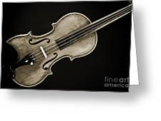Photograph Of A Complete Viola Violin In Sepia 3370.01 Greeting Card