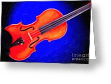 Photograph Of A Complete Viola Violin Painting 3371.02 Greeting Card