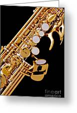Photograph Of A Soprano Saxophone Color 3355.02 Greeting Card