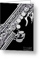 Photograph Of A Soprano Saxophone Sepia 3355.01 Greeting Card