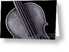 Photograph Of A Upper Body Viola Violin In Sepia 3369.01 Greeting Card
