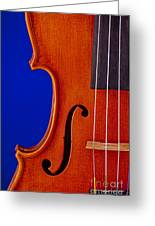 Photograph Of A Viola Violin Side In Color 3372.02 Greeting Card