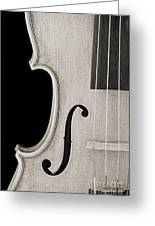 Photograph Of A Viola Violin Side In Sepia 3372.01 Greeting Card