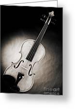 Photograph Of A Viola Violin Spotlight In Sepia 3375.01 Greeting Card