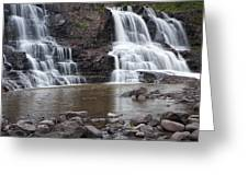 Photograph Of Lower Gooseberry Falls In Minnesota Greeting Card