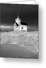 Photograph Of The Lighthouse Big Red In Holland Michigan Greeting Card
