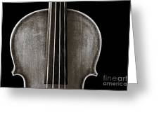 Photograph Or Picture Violin Viola Body In Sepia 3367.01 Greeting Card