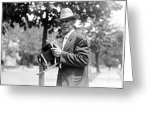 Photographer And Camera Greeting Card