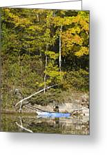 Photographer On A Northern Lake Greeting Card