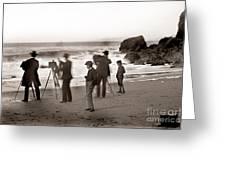 Photographer On The Beach California  Circa 1887 Greeting Card