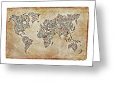 Photographer World Map Greeting Card