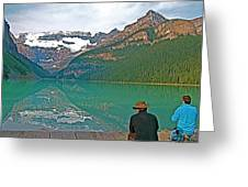 Photographers At Lake Louise In Banff National Park-ab Greeting Card